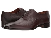 Massimo Matteo Pebbled Oxford Chocolate Shoes Brown
