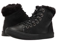 Blowfish Perl Shearling Black Old Ranger Pu Women's Lace Up Casual Shoes