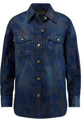 Current Elliott The Surplus Printed Denim Shirt