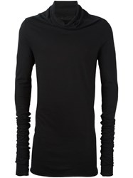 Lost And Found Ria Dunn Elongated Sleeve Sweater Black