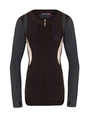 Elle Sport Contour Panelled Workout Jacket Dary Grey Marl