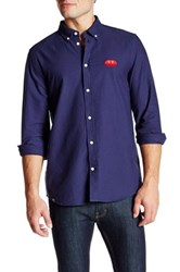 Wesc Ogen Long Sleeve Relaxed Fit Shirt Blue