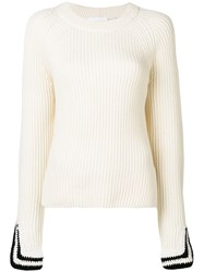 Helmut Lang Ribbed Sweater Neutrals