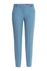 Hugo Cropped Trousers Blue