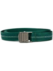 Off White Industrial Belt Green