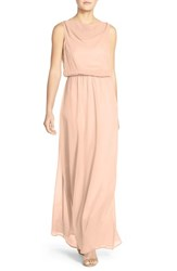 Paper Crown Women's By Lauren Conrad 'Springfield' Cowl Neck Chiffon Gown Blush