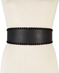 Inc International Concepts Whipstitched Stretch Belt Only At Macy's Black
