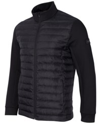 Greg Norman For Tasso Elba Men's Quilted Performance Puffer Coat Only At Macy's Deep Black