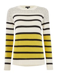 Therapy Stripe Jumper Lime