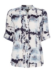 Episode Sleeveless Printed Blouse Blue