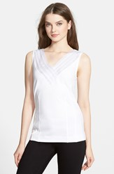 Nic Zoe 'Sweet Pleat' Top Regular And Petite Paper White