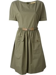 Fay Belted Dress Green