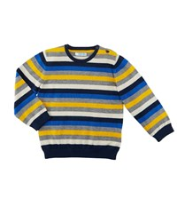 Mayoral Multicolored Striped Crewneck Sweater