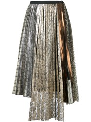 Antonio Marras Lace Pleated Skirt Women Polyester 42 Metallic
