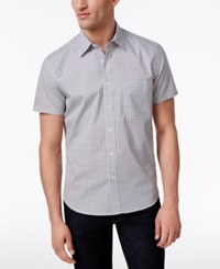 Construct Men's Slim Fit Stretch Circle Print Shirt Only At Macy's Dark Gray