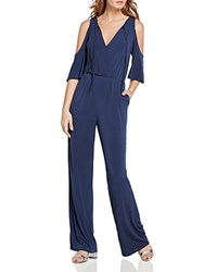 Bcbgeneration Cold Shoulder Jumpsuit Dark Navy