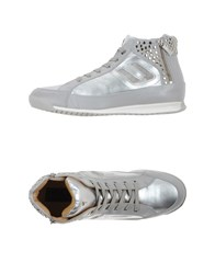 Cesare Paciotti 4Us Footwear High Tops And Trainers Women Silver