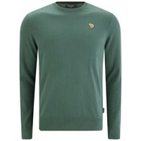 Paul Smith Jeans Men's Zebra Crew Knitted Jumper Khaki Green