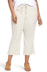 Nydj Plus Size Women's Jamie Wide Leg Crop Pants Stone