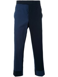 Thom Browne Tailored Cropped Trousers Men Cotton 2 Blue
