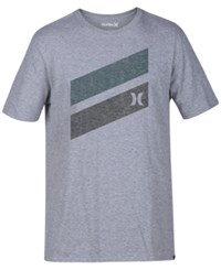 Hurley Men's One And Only Slash T Shirt Dark Grey