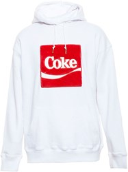 Joyrich X Coke Hooded Sweatshirt With Faux Fur Logo White