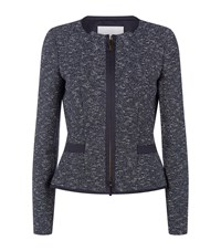Hugo Boss Kalaila Boucle Jacket Female Navy