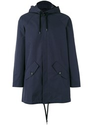 A Kind Of Guise Drawstring Hooded Jacket Blue