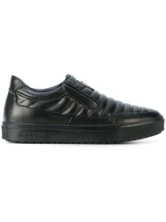 Baldinini Quilted Slip On Sneakers Calf Leather Leather Rubber Black