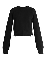 Haider Ackermann Invidia Asymmetric Hem Wool Blend Sweater Black