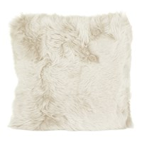 A By Amara New Zealand Sheepskin Cushion 50X50cm Linen