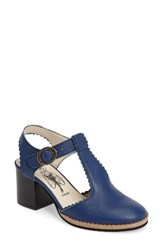 Fly London Women's Cade Pump Blue Leather