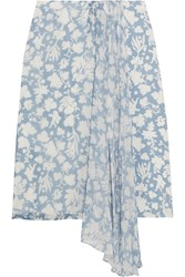 Topshop Unique Balfour Printed Silk Georgette And Crepe De Chine Skirt