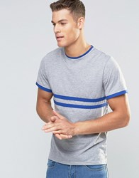 Native Youth T Shirt With Contrast Stripe Grey