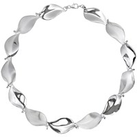 Nina B Sterling Silver Leaf Necklace Silver