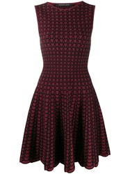 Antonino Valenti Diletta Skater Dress Red