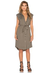 Bishop Young Maia Sleeveless Military Dress Olive