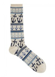 Anonymous Ism Cream Anchor Socks Natural