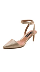 Steven Caydence Kitten Heel Pumps Dusty Gold