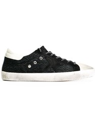 Golden Goose Deluxe Brand Distressed Low Cut Trainers Black