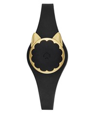 Kate Spade Goldtone Stainless Steel Scallop Cat Tracker Black