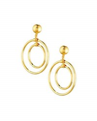 Jose And Maria Barrera Double Hoop Drop Earrings Gold