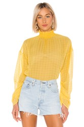 House Of Harlow X Revolve Liliana Blouse Yellow