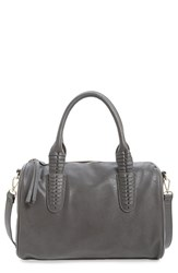 Sole Society Faux Leather Satchel Grey