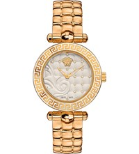 Versace Vqm120016 Micro Vanitas Gold Plated Ceramic Watch Sapphire