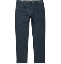 Barena Slim Fit Stretch Cotton Twill Chinos Navy