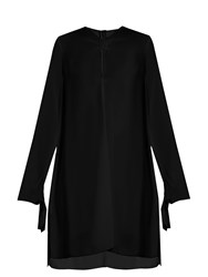 Proenza Schouler Knotted Front Crepe Dress Black