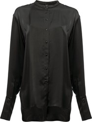 Ilaria Nistri Collarless Shirt Black