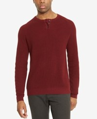 Kenneth Cole Reaction Men's Henley Sweater Port Royale