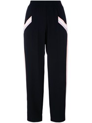 Agnona Relaxed Cropped Trousers Black